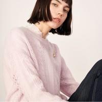 Lily 119169B8970 宽松装饰扣套头针织衫