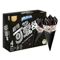 限京津:和路雪 超级可爱多甜筒 黑蛋筒 奥利奥口味  82g*4支 *5件