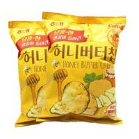 Calbee 卡乐比 韩国进口 蜂蜜黄油薯片 60g*2袋 *7件