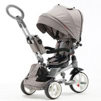小虎子 可躺可坐可转向儿童三轮车 高景观宝宝脚踏车婴儿手推车T500