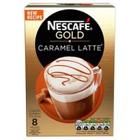 Nestle 雀巢金牌 焦糖拿铁速溶咖啡 8条装 136g *10件