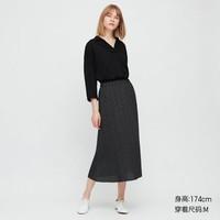 UNIQLO 优衣库  427032 女士雪纺打褶印花长裙