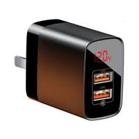 历史低价:BASEUS 倍思 BS-C912 18W 数显充电器 双USB口