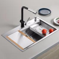 美仕杰 厨房304不锈钢手工加厚水槽