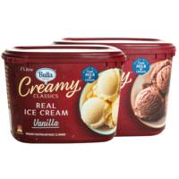 Bulla 桶装鲜奶冰淇淋 澳大利亚原装进口网红冰激凌2L大桶装 2L*2盒 *2件