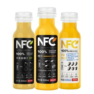 农夫山泉 NFC果汁饮料 100%NFC橙汁 300ml*24瓶