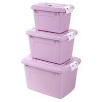 千百纳 塑料零食玩具收纳箱套装 三件套