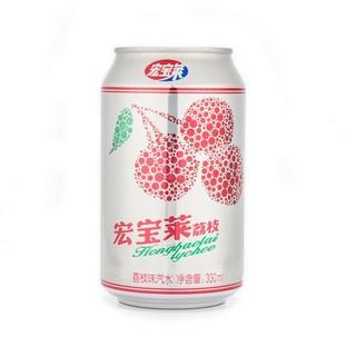 宏宝莱 荔枝口味汽水饮料 330ml*6罐+百事可乐 无糖碳酸饮料 (原味330ml*20罐+树莓味330ml*4罐)