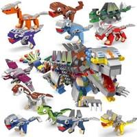 汇奇宝 恐龙系列 恐龙机械兽整套十二盒 630颗粒