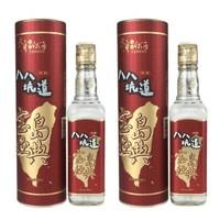 京东PLUS会员:八八坑道  宝岛经典台湾高粱酒  53度300ml *2瓶