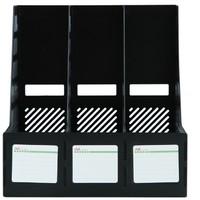 京东PLUS会员:得力 三联镂空文件框 黑色  *3件