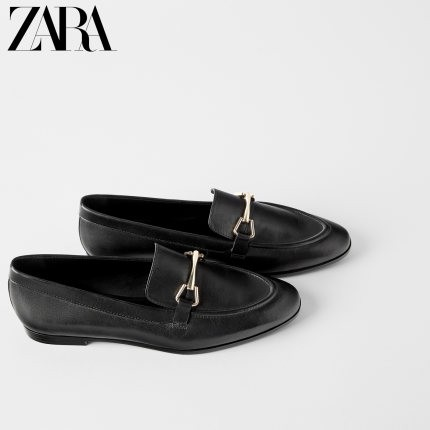 ZARA 16540001040 女士平底莫卡辛鞋