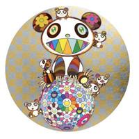 艺术品 村上隆 《Panda ,panda Cubs,and flowerball》画廊级别收藏品 金色版