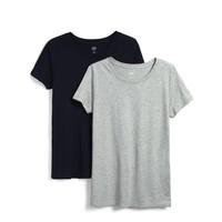 Gap 盖璞 548151 纯色圆领短袖 2件装