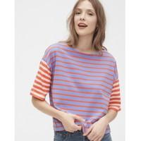 限尺码:Gap 盖璞 000574142 女装条纹短袖T恤