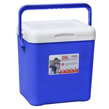 欧宝森保温箱冷藏箱 户外车载便携保鲜箱 26升蓝色 保冷保热两用 送2冰盒6冰袋