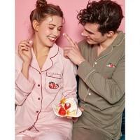 DAPU 大朴 草莓系列 情侣家居服套装