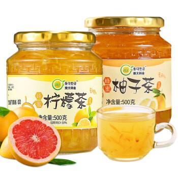 東大韩金 蜂蜜柚子柠檬茶组合 500g*2瓶