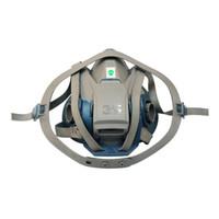 3M 6502QL硅胶半面具 喷漆防尘多功能面罩不含滤棉滤毒盒 快扣版 1个