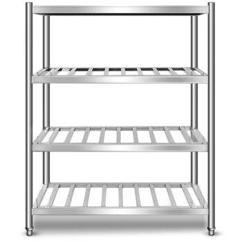 德玛仕 DEMASHI 厨房不锈钢置物架 四层货架 四层通架 厨房用品杂物架储物架橱柜货架  304材质 (工程款)