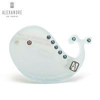 ALEXANDRE DE PARIS亚历山大鲸鱼刘海夹边夹发饰发夹ATB-2954-04 C 蓝色