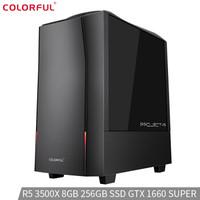 七彩虹(Colorful) 黑鳍鲨游戏台式电脑主机(AMD锐龙5 3500X GTX1660super 8GB 256G 3年免费上门)