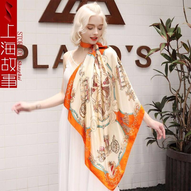 shanghai story 上海故事 47608325284 女士百搭防曬絲巾