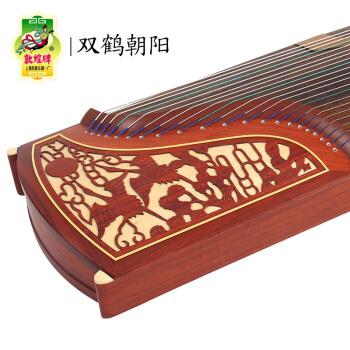 敦煌  古筝 双鹤朝阳 考级演奏入门级古筝上海民族乐器一厂 檀木古筝 696D