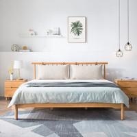 芝粉节:CHEERS 芝华仕 C047 现代简约实木床 1.8m