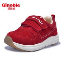 基诺浦 机能鞋秋款男女儿童鞋宝宝防滑学步鞋运动鞋TXG878 大红 10