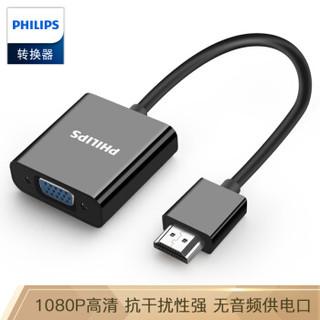 PHILIPS 飞利浦 飞利浦(PHILIPS)HDMI转VGA线转换器 高清视频转接头适配器 电脑机顶盒连接投影机电视显示器线 SWR1620E