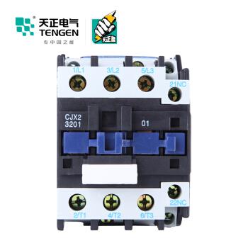 天正电气(TENGEN)CJX2-3201 36V 3NO 1NC 32A 50Hz 3P 接触式继电器 辅助触点 交流线圈 交流接触器