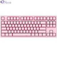 AKKO 3087 机械键盘 有线键盘 游戏键盘 电竞 87键 吃鸡键盘 绝地求生 Cherry樱桃轴 粉色 樱桃黑轴