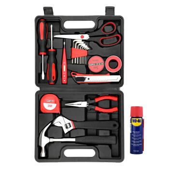 赛拓(SANTO)工具箱套装20件家用工具套装 家用五金工具箱 9827