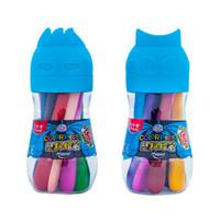 马培德 Maped 塑料蜡笔12色 筒装 安全不脏手涂色绘画笔 862412CH