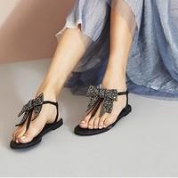 百丽 BELLE 01668BL8B 女士休闲沙滩凉鞋