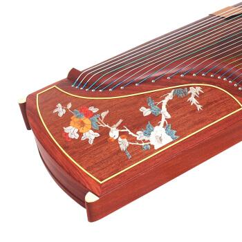 敦煌 敦煌牌古筝 上海民族乐器一厂21弦古筝 五彩呈祥牡丹图案 694L