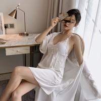 PEANOJEAN 6748 吊带睡裙两件套