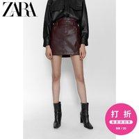 ZARATRF 女装 仿皮迷你裙 05427150606