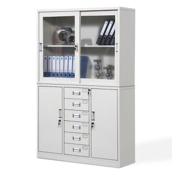 佐盛办公家具铁皮柜资料柜档案柜书柜储物柜 宽中六斗加厚
