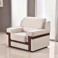 苏美特沙发会议沙发商务沙发接待沙发客厅沙发布艺沙发单人位