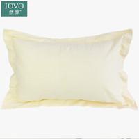 然牌 枕套纯棉纯色全棉60支枕头套 米黄色 一对装 48*74cm