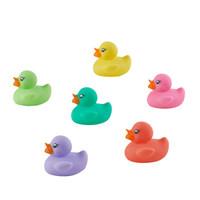 babycare宝宝洗澡玩具小黄鸭男女孩捏捏叫婴儿戏水游泳小鸭子玩具  6只小萌鸭7147