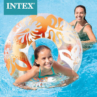 INTEX 59251新款儿童成人救生圈浮圈游泳圈腋下圈成人加厚游泳圈 颜色随机发款