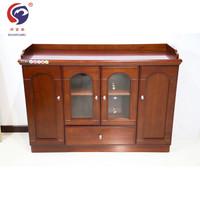 顺富美(SHUNFUMEI)1.2米红棕色茶水柜 实木茶水柜储物柜 收纳柜