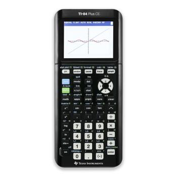 德州仪器(Texas Instruments)TI-84 PLUS CE 彩屏图形绘图计算器 SAT/AP考试计算器