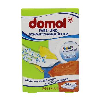 Domol防染色洗衣片 母片防染色巾 吸色纸 防串色洗衣纸 德国原装进口 24片装