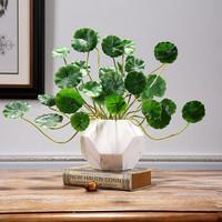 Hoatai Ceramic 华达泰陶瓷 北欧创意大理石纹花瓶 (中号+1束钱铜草)