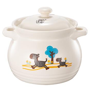 Cfcraft 泥火匠 小斑马 如意汤煲 陶瓷炖煲 4600ml 白色
