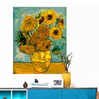 墨斗鱼 diy数字油画8366梵高向日葵40*50cm手工填色画植物花卉盆栽创意礼物客厅手绘世界名画装饰画添色油画